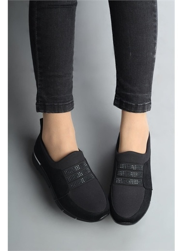 Modabuymus Modabuymus  Taşlı Spor Ayakkabı - Threestar Siyah